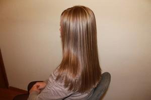 Как происходит брондирование темных волос