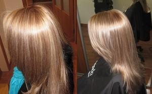 Брондирование волос на светлые волосы