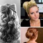 Как уложить бант из волос
