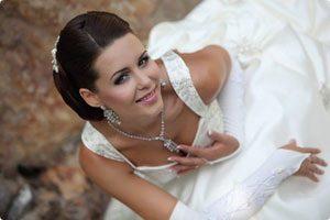 Свадебные прически для средних волос