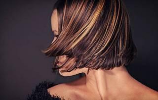 мелирование темных волос фото