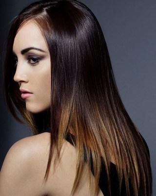 мелирование на длинные темные волосы