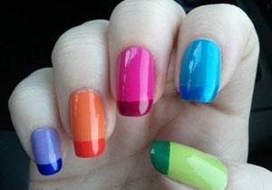 Как выглядят короткие ногти разных цветов