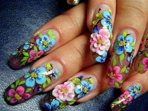 Варианты необычной росписи ногтей