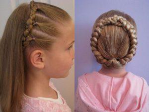 Прически для девочек для длинных волос