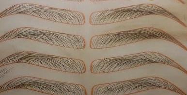 фото техник микроблейдинга бровей