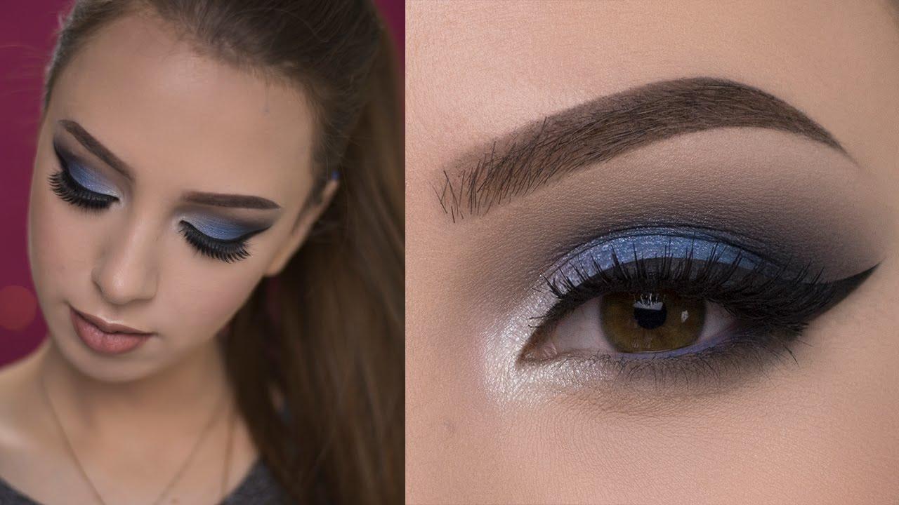 макияж глаз в голубых тонах