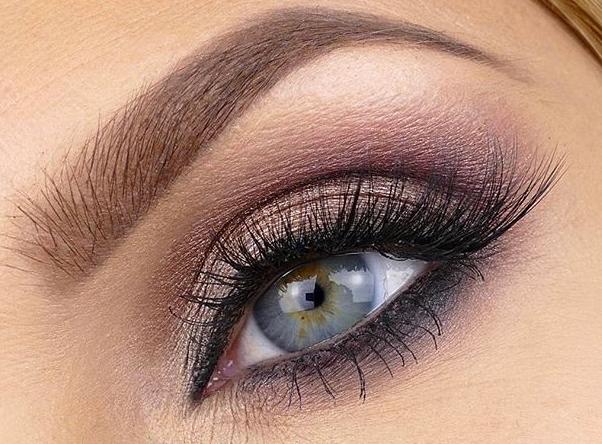 макияж светлые глаза