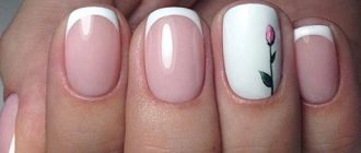 Французские тенденции ногтей