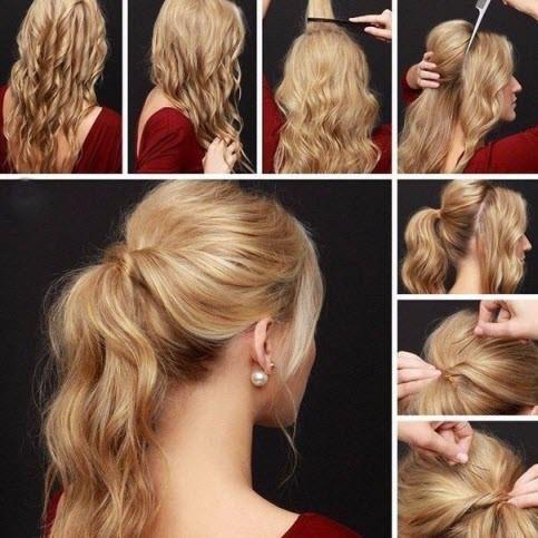 прическа на каждый день с волнистыми волосами пошагово