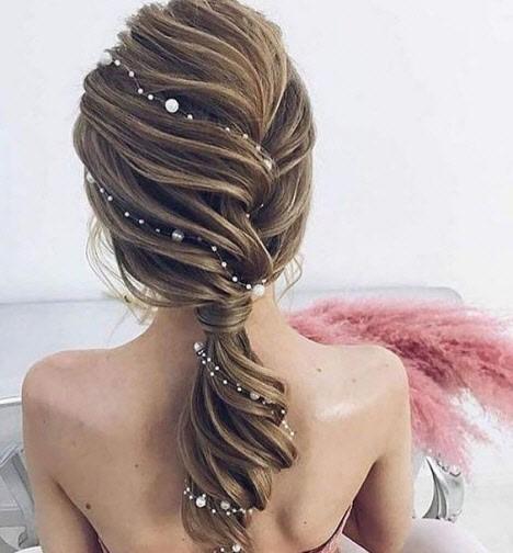 прическа на свадьбу длинные волосы